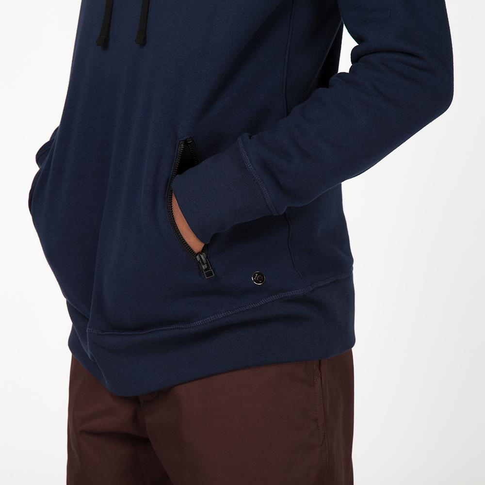 style code 2023TEF17HNV. {ie PULLOVER HOODY / HEATHER NAVY