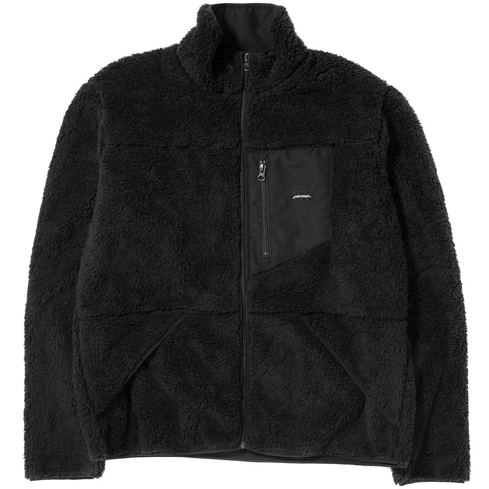 style code 2025LSTEBLK. LIVESTOCK FULL HIGH ZIP PILE FLEECE / BLACK
