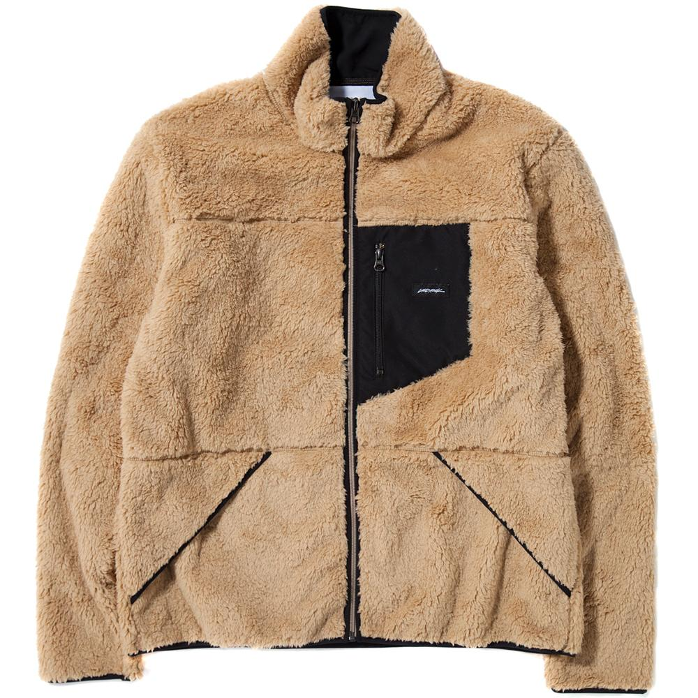 style code 2025LSTETAN. LIVESTOCK FULL HIGH ZIP PILE FLEECE / TAN