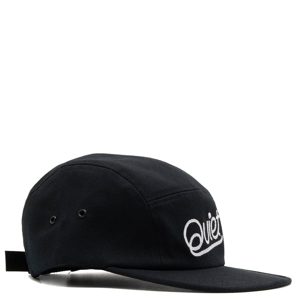 Quiet Life Chainstitch Script 5 Panel Camper / Black