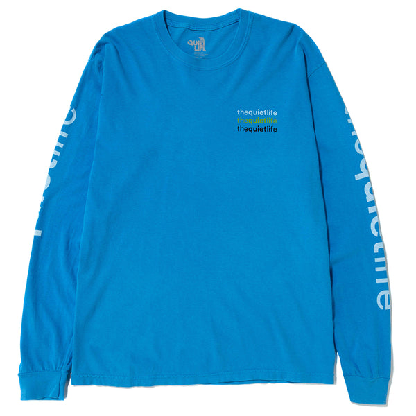 Quiet Life Origin Long Sleeve Pigment Dyed T-shirt / Blue