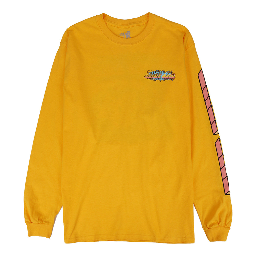 Quiet Life Splatter Long Sleeve T-shirt / Gold