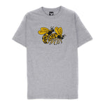 Quiet Life Bees T-shirt / Heather Grey
