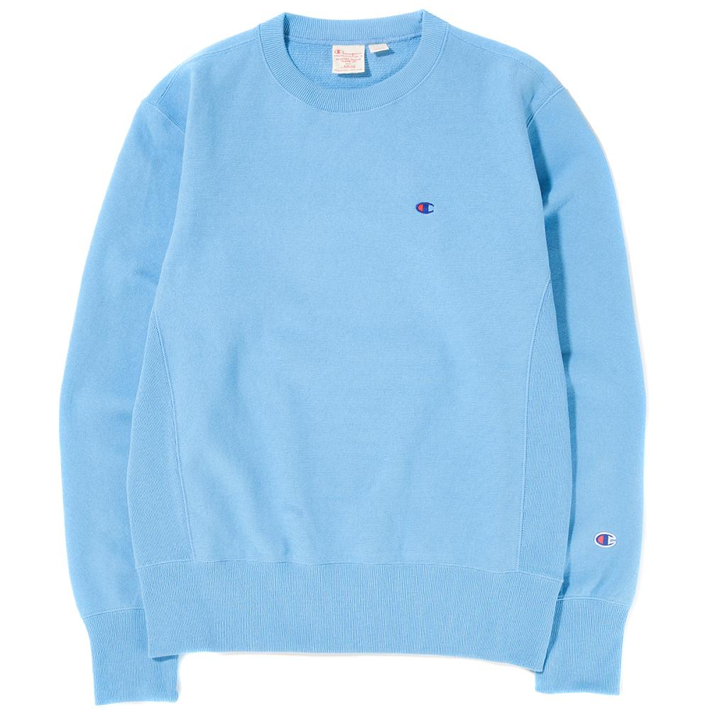 Style code 210965S18LBL. Champion Reverse Weave Crewneck Sweatshirt Light Blue