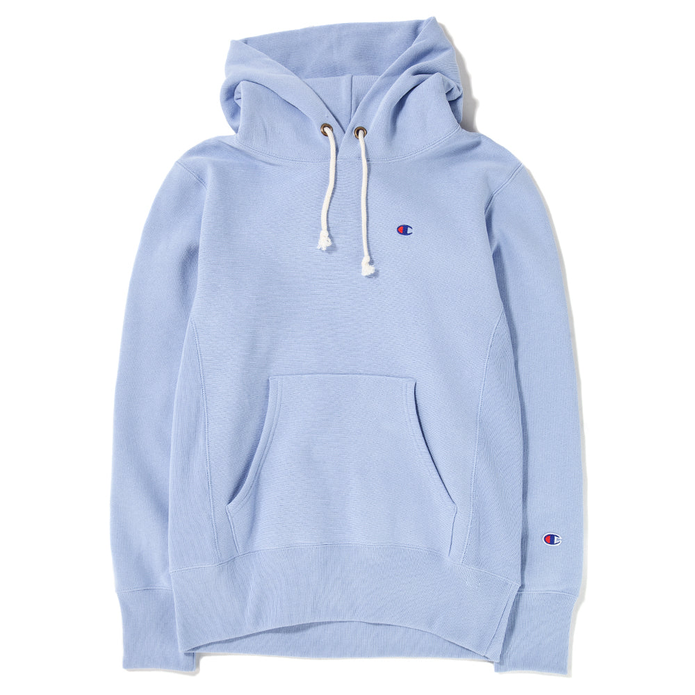 Style code 212575LLUFW18. Champion Reverse Weave Pullover Hoodie Sweatshirt / Light Blue