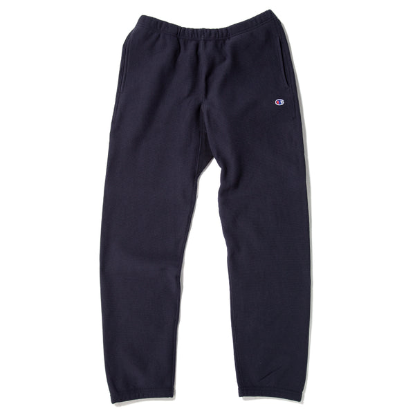 Champion Reverse Weave Elastic Cuff Pants / Navy - Deadstock.ca