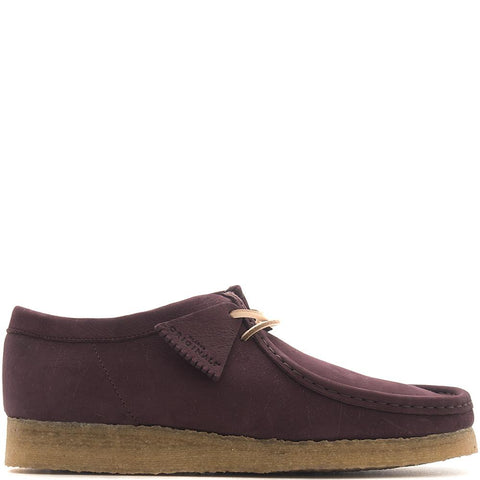 style code 26128334. CLARKS ORIGINALS WALLABEE / PURPLE GRAPE NUBUCK