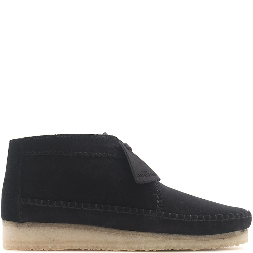 CLARKS ORIGINALS WEAVER BOOT / BLACK SUEDE