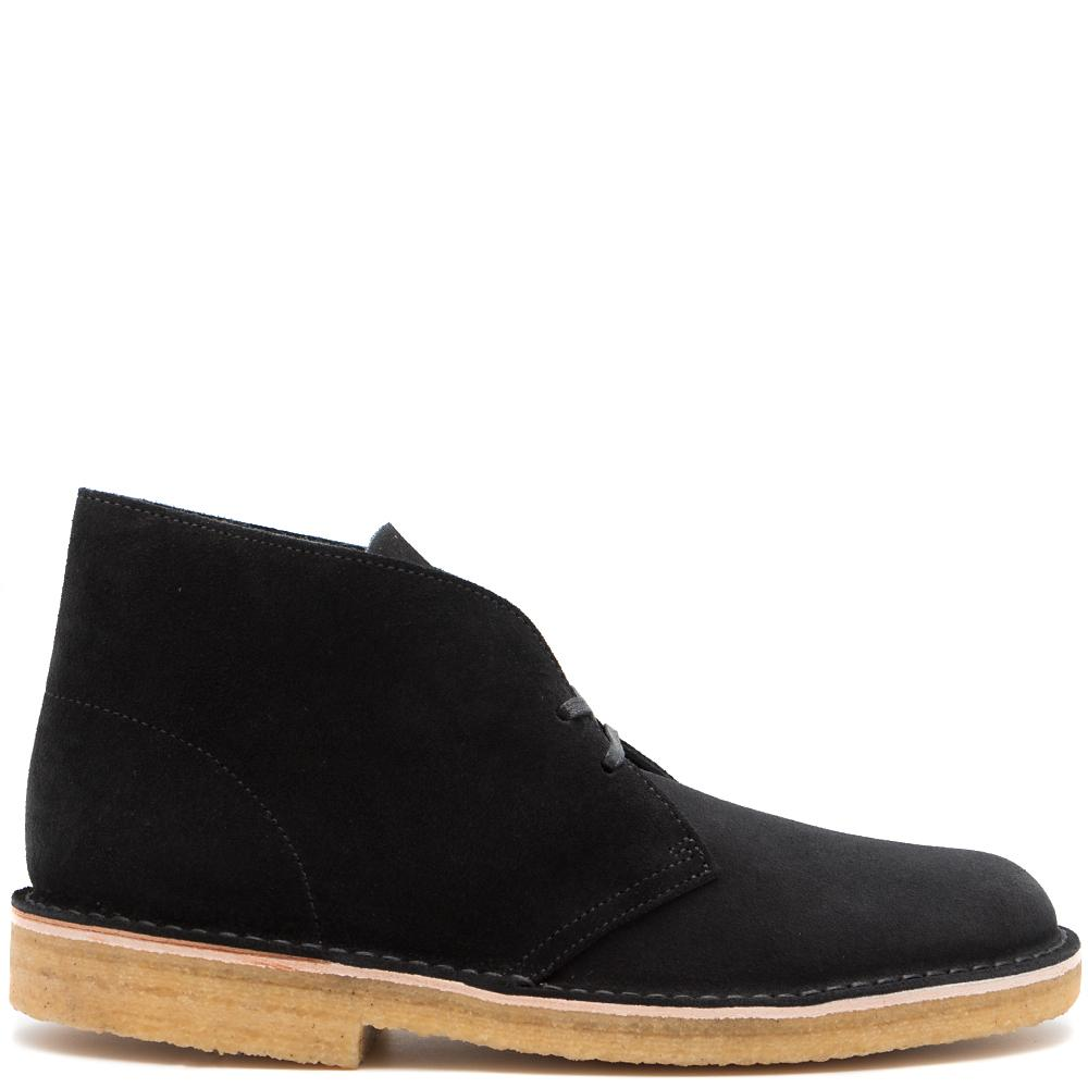 Style code 26128537. CLARKS DESERT BOOT MADE IN ITALY / BLACK SUEDE