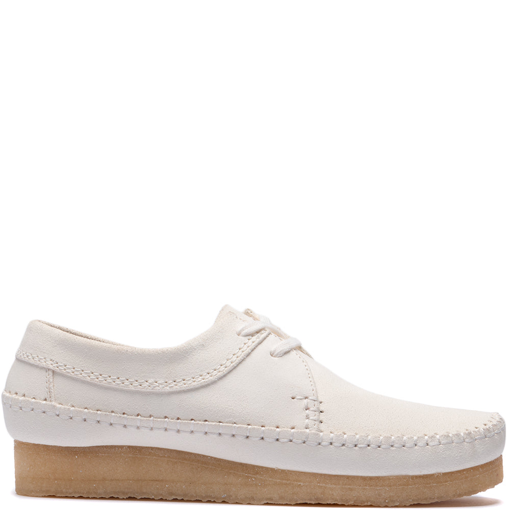 Style code 26138705. Clarks Weaver Suede / White