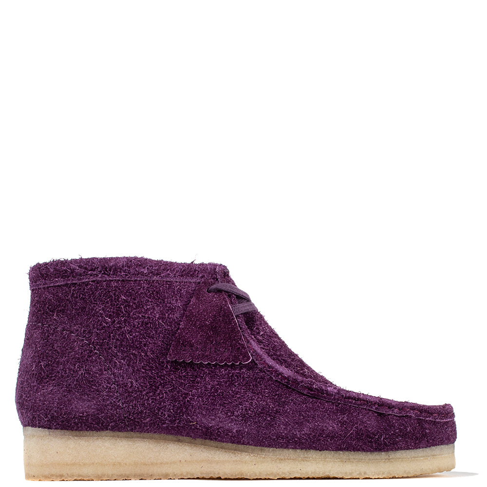 Clarks Originals Wallabee Boot / Deep Purple Hairy Suede - Deadstock.ca