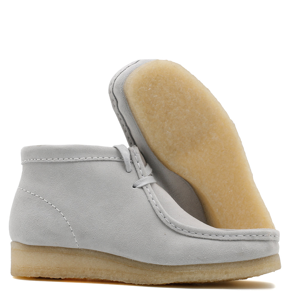 Clarks Women's Wallabee Boot / Blue Grey Suede