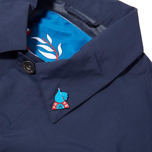 BY PARRA NYLON WORKER SHIRT / NAVY BLUE - 3