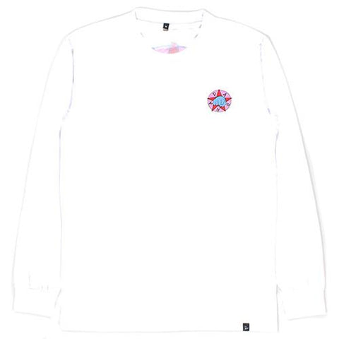 BY PARRA PARTY LONG SLEEVE T-SHIRT / WHITE - 1