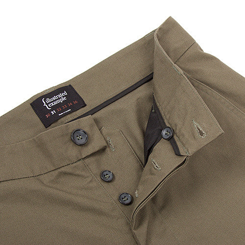 {ie CANVAS CHINO / OLIVE - 4