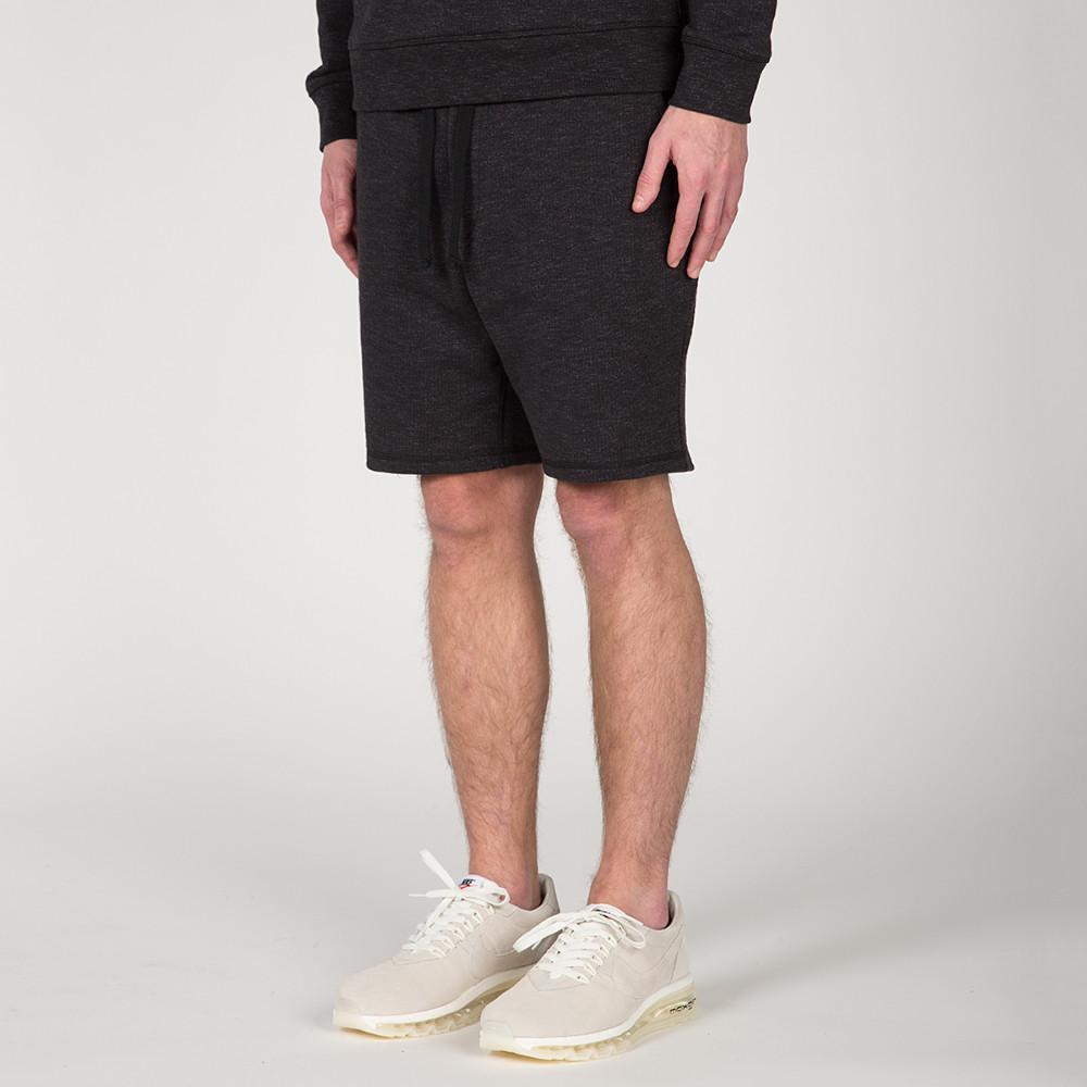 {ie SLUB FRENCH TERRY SHORT / BLACK