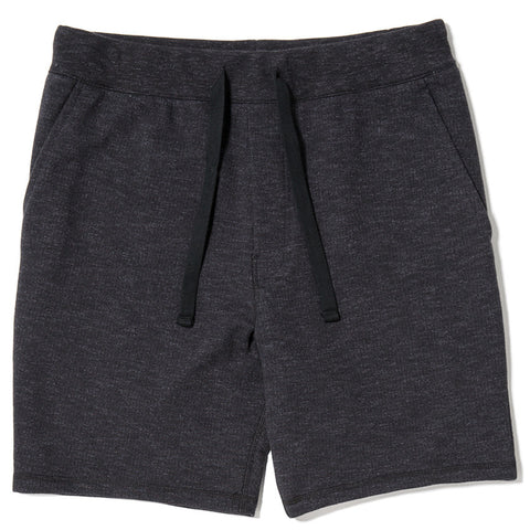 {ie SLUB FRENCH TERRY SHORT / BLACK - 1