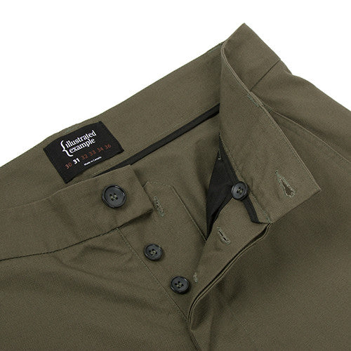 {ie CANVAS CHINO PANT / OLIVE - 4