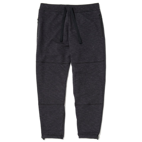 {ie SLUB FRENCH TERRY SWEATPANT / BLACK - 1