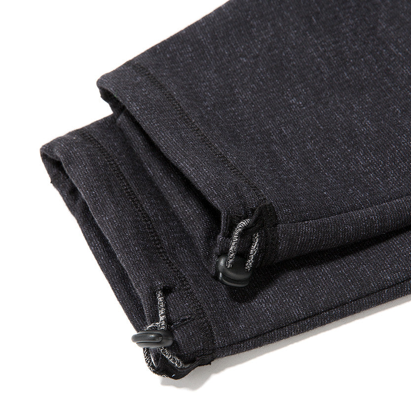 {ie SLUB FRENCH TERRY SWEATPANT / BLACK - 6