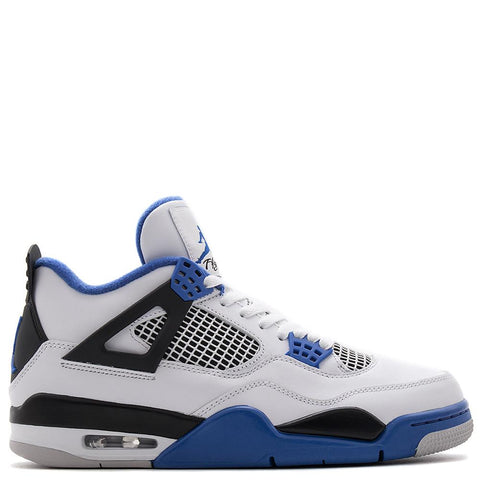 JORDAN 4 RETRO MOTORSPORTS WHITE / GAME ROYAL