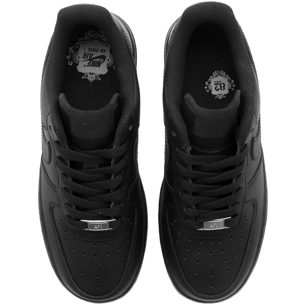 Style code 315115-038. NIKE WOMEN'S AIR FORCE 1 '07 / BLACK