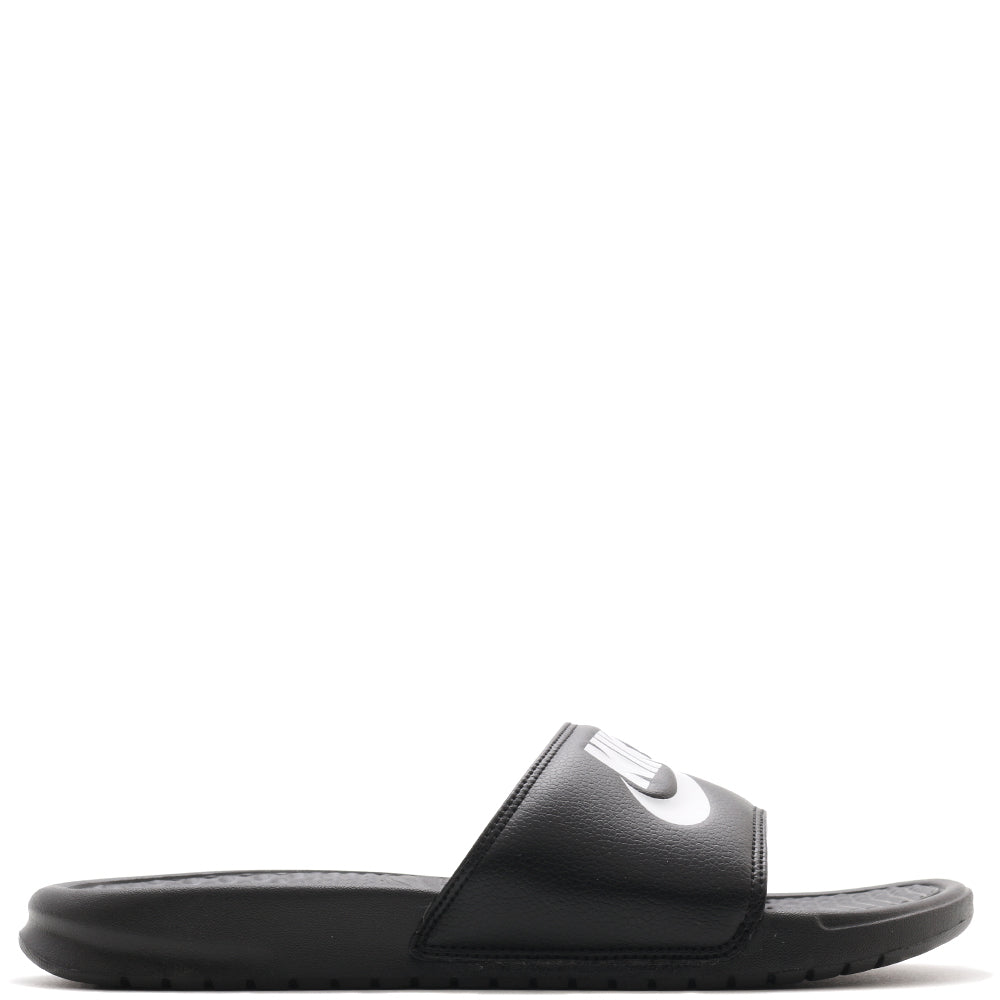 "343880-090 Nike Benassi ""Just Do It"" Sandal Black / White"