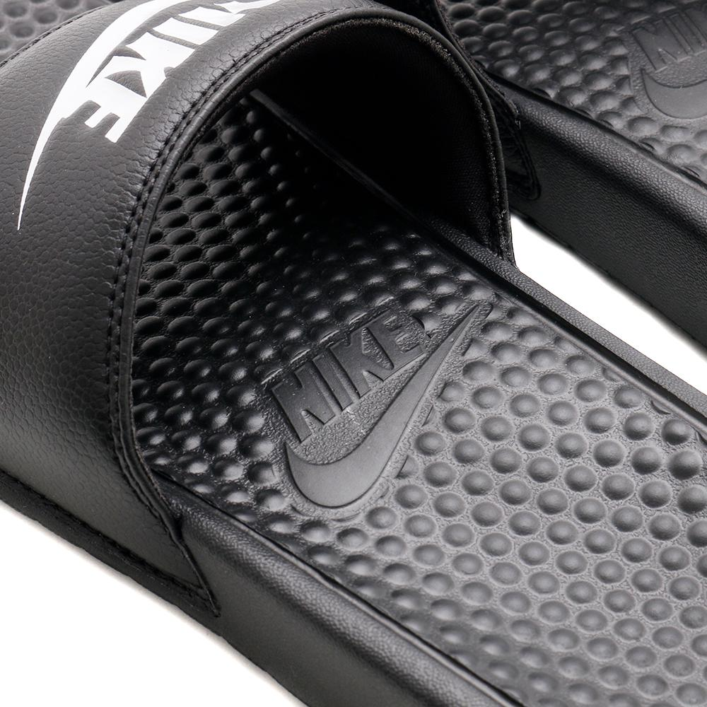 c33a76d178f1a Nike Benassi Just Do It Sandal Black   White – Deadstock.ca