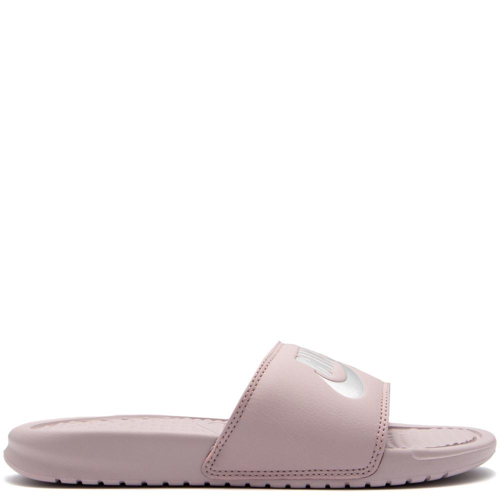 "Style code 343881-614. NIKE WOMEN'S BENASSI ""JUST DO IT"" SANDAL / PARTICLE ROSE"