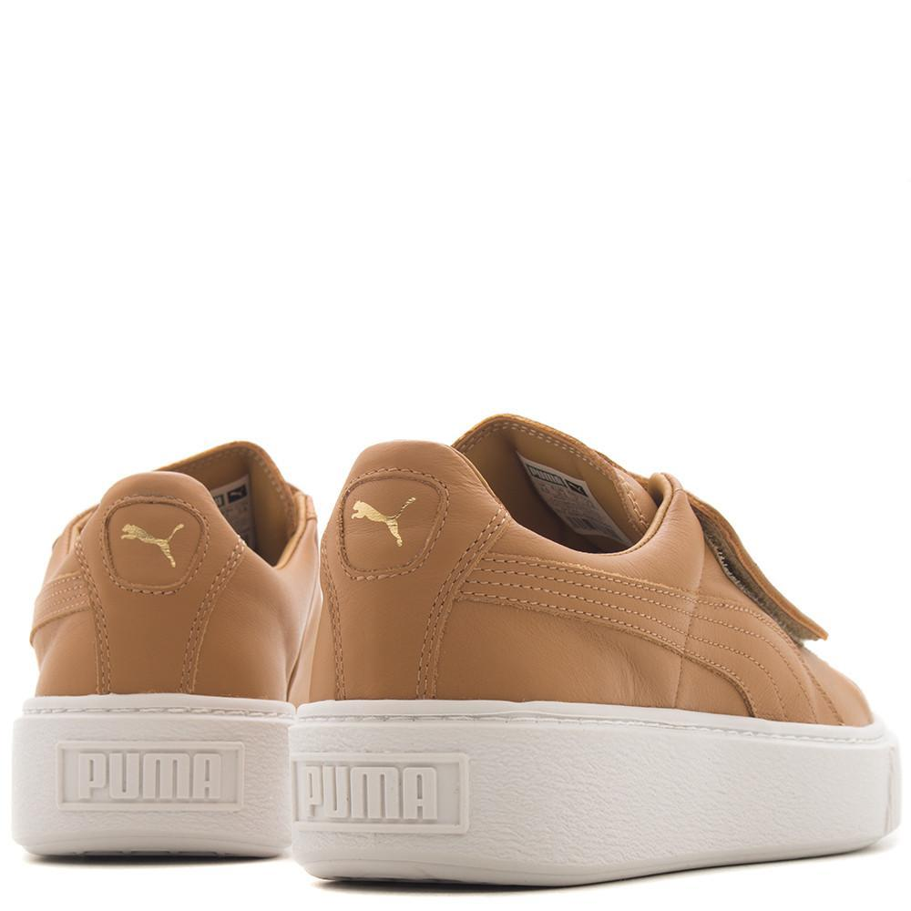 PUMA WOMEN'S BASKET PLATFORM STRAP / APPLE CINNAMON