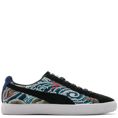 PUMA CREAM X ATMOS CLYDE HIDE ICHIBAY THREE TIDES TATTOO / PUMA BLACK - 1