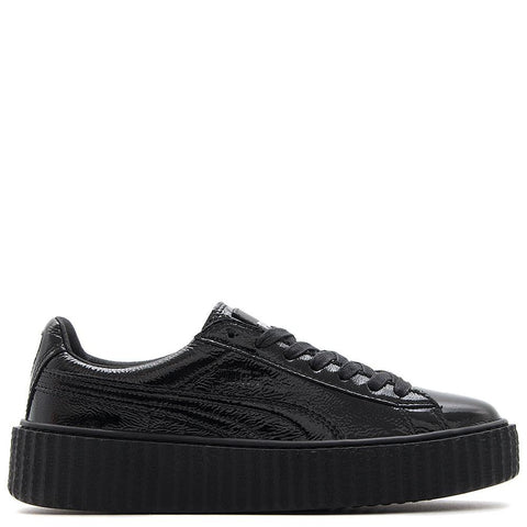 style code 364465-01. PUMA FENTY CREEPER CRACKED LEATHER / BLACK