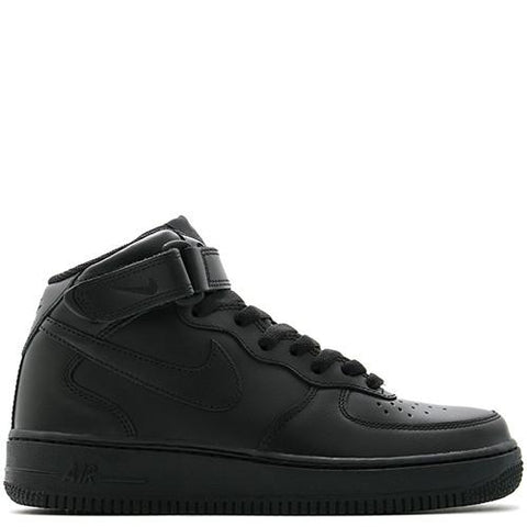 NIKE WOMEN'S AIR FORCE 1 MID '07 LE / BLACK - 1