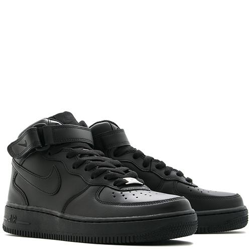 NIKE WOMEN'S AIR FORCE 1 MID '07 LE / BLACK . style code 366731-001