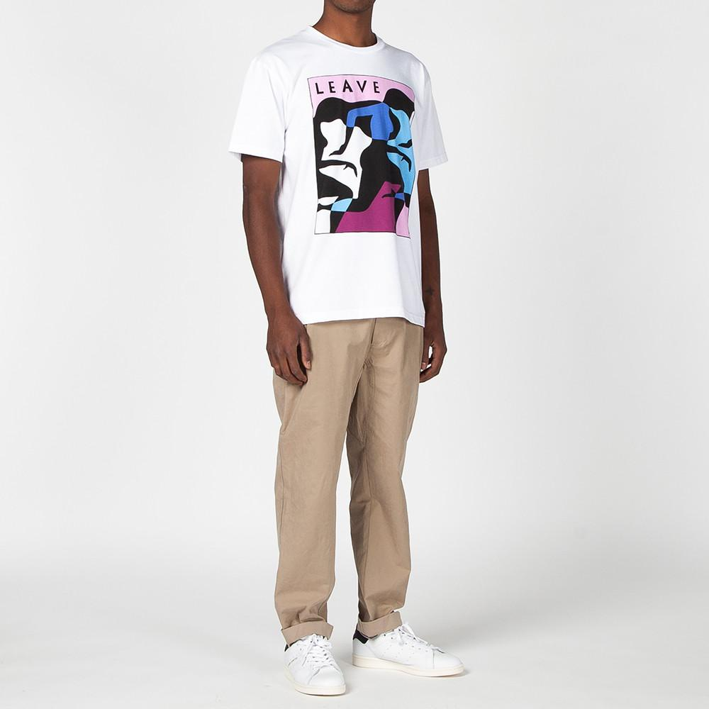 BY PARRA LEAVE T-SHIRT / WHITE