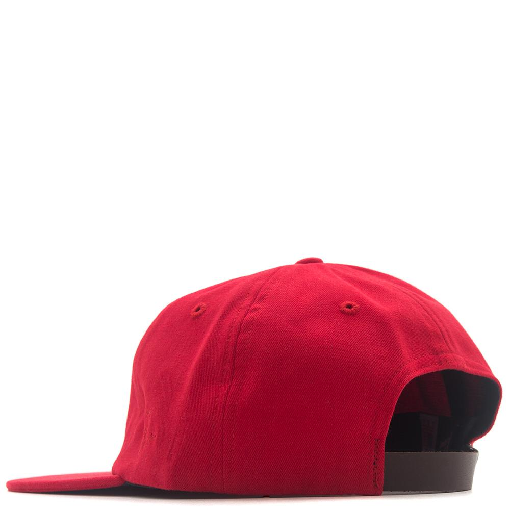 style code 38400FW17. BY PARRA HAT EYE 6 PANEL / RED