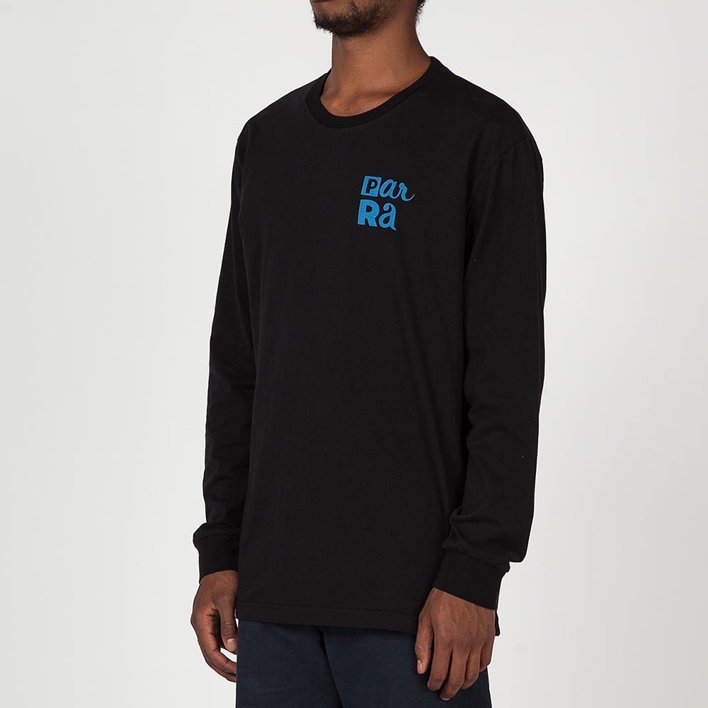 BY PARRA HANGING LONG SLEEVE T-SHIRT / BLACK