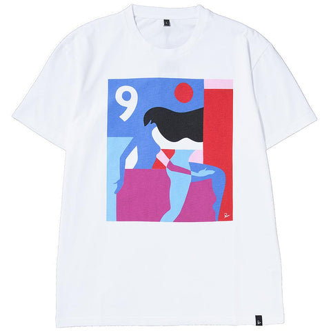 BY PARRA RUNNING BEHIND T-SHIRT / WHITE