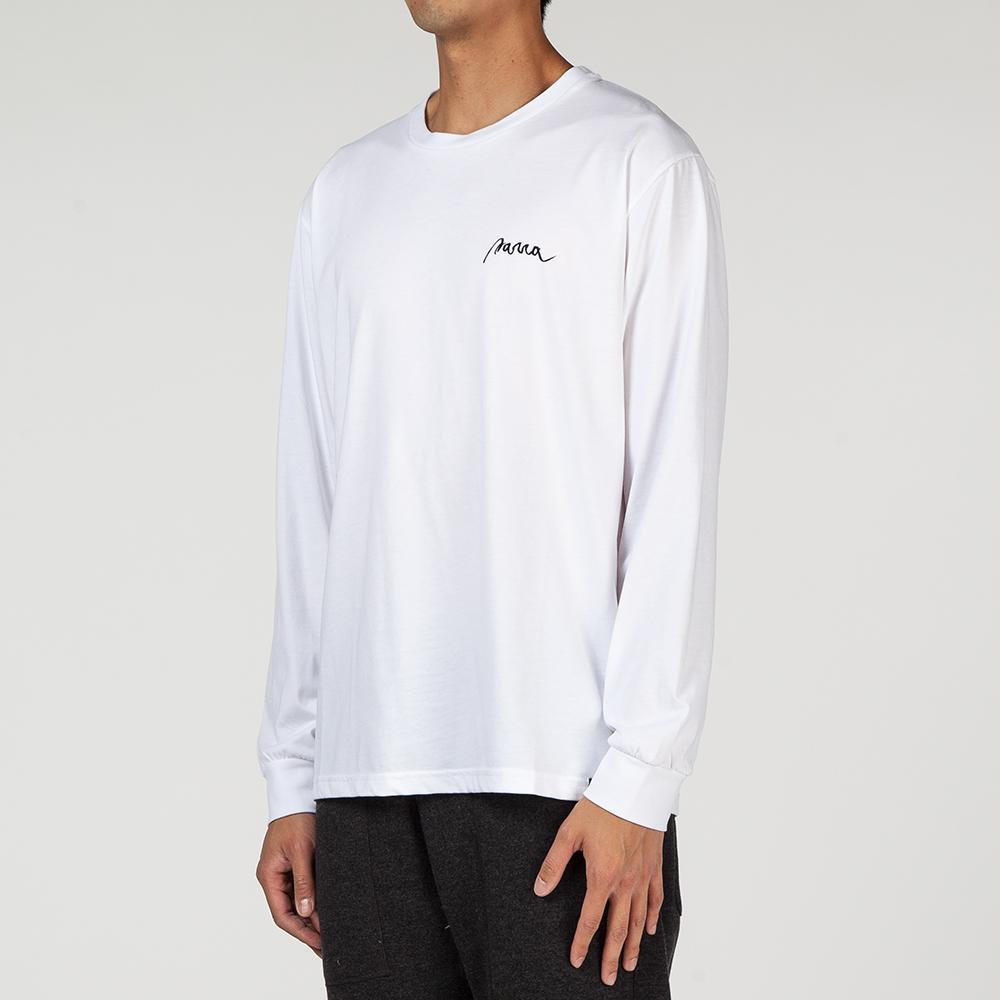 BY PARRA STAR STRUCK LONG SLEEVE T-SHIRT / WHITE