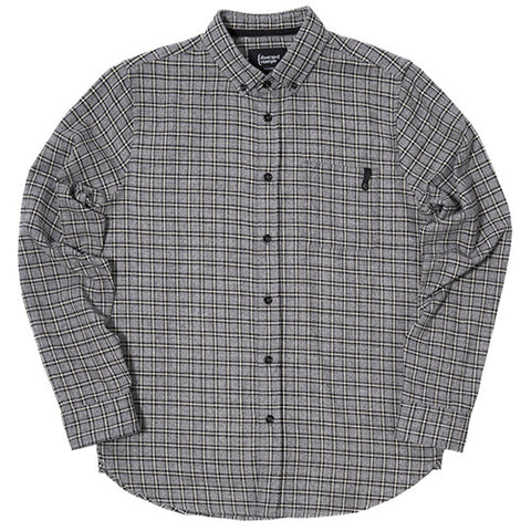 {ie PLAID BD SHIRT HEATHER GREY / BLACK PLAID - 1