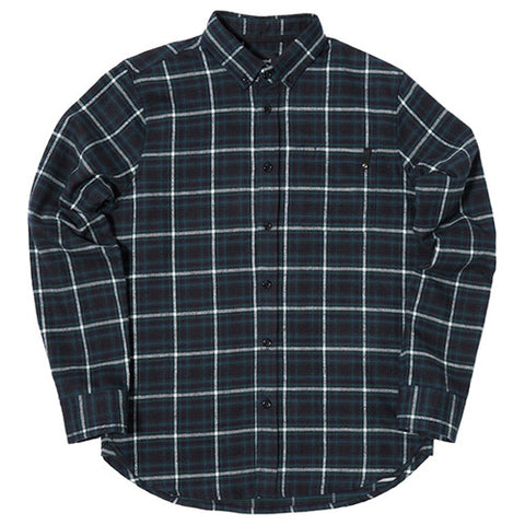 {ie PLAID BD SHIRT NAVY / WHITE PLAID - 1