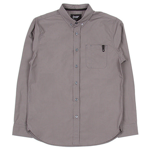 {ie POPLIN LONG SLEEVE SHIRT / SLATE - 1