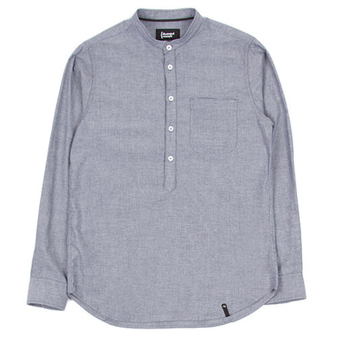 {ie DUNGAREE BAND COLLAR POPOVER SHIRT / INDIGO - 1