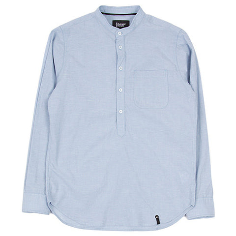 {ie DUNGAREE BAND COLLAR POPOVER SHIRT / SKY BLUE - 1