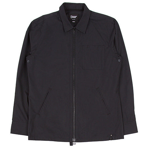 {ie ZIP OVERSHIRT / BLACK - 1