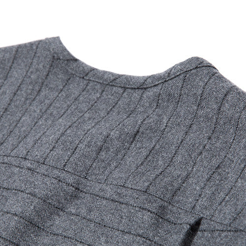 {ie STRIPED WOOL OVERSHIRT / CHARCOAL PINSTRIPE - 7