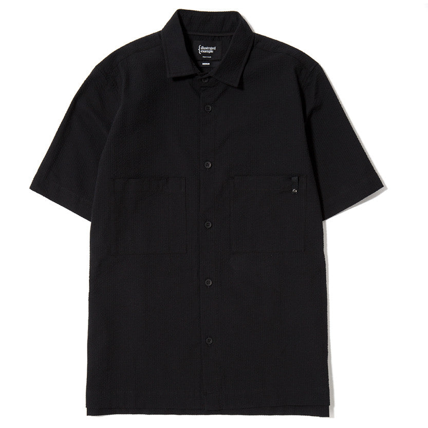 {ie SS Seersucker Shirt / Black - Deadstock.ca