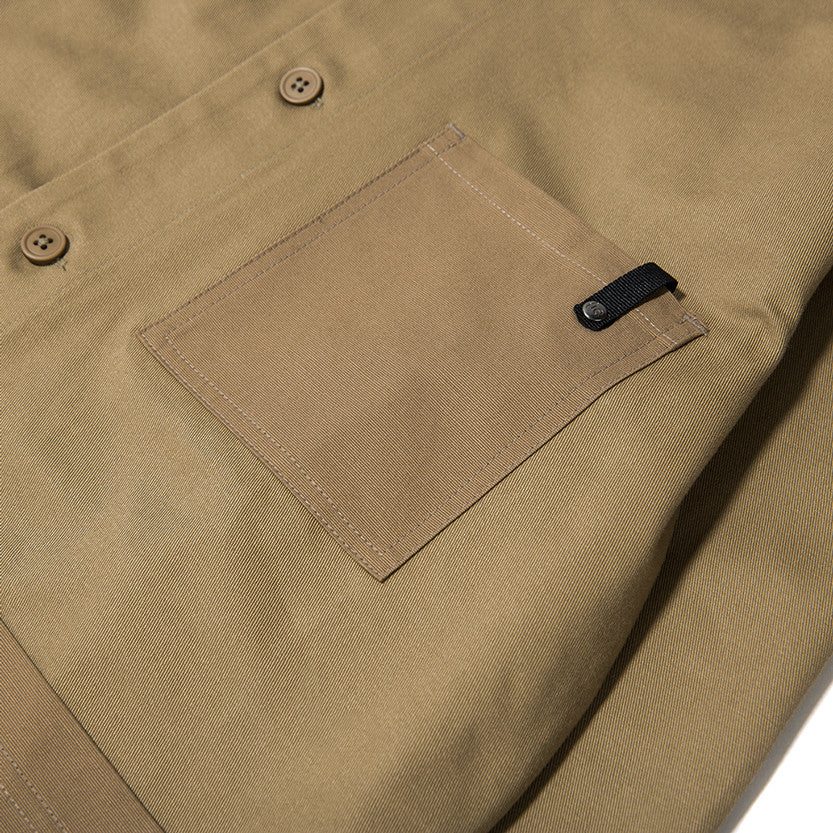 {ie OUTBACK OVERSHIRT / KHAKI - 4