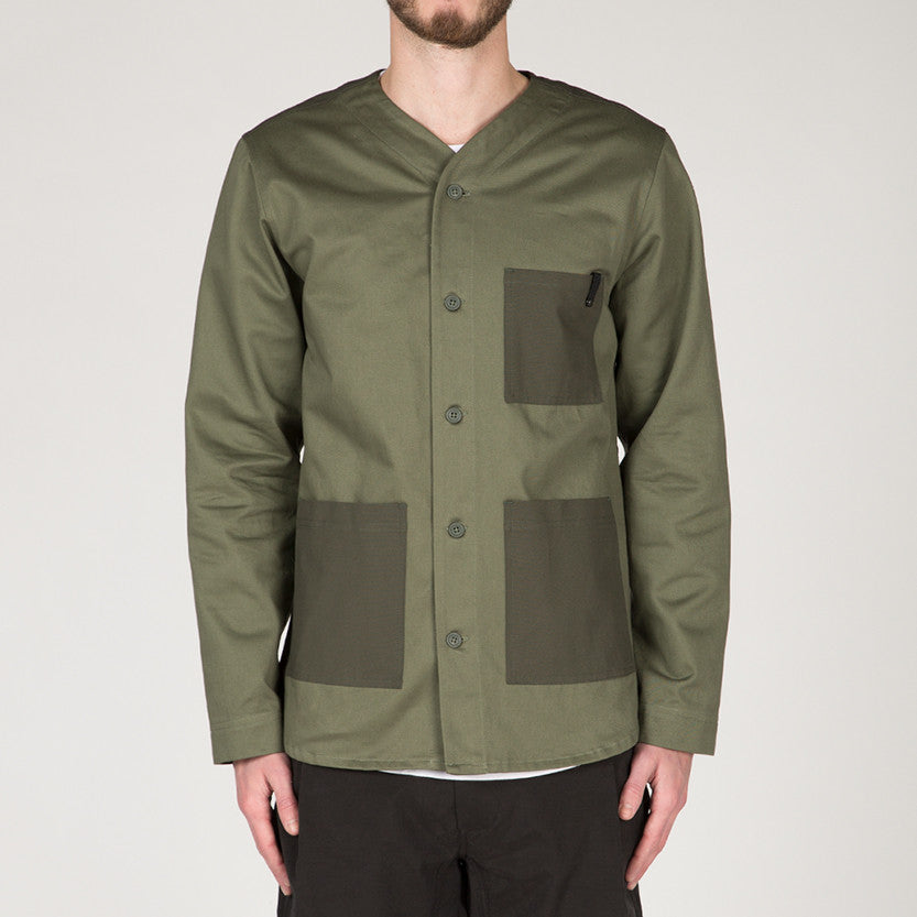 {ie OUTBACK OVERSHIRT / MOSS