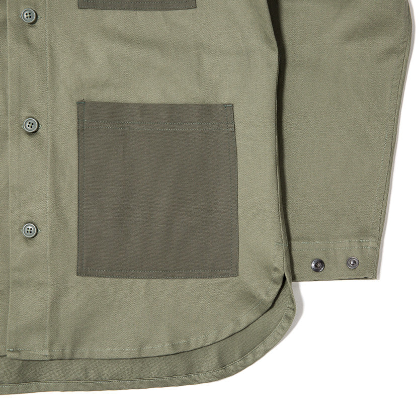 {ie OUTBACK OVERSHIRT / MOSS - 5